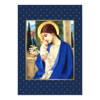 Madonna door Marianne Stokes. Kerstkaarten 12,7x17,8 Uitnodiging Kaart