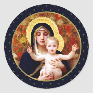 Madonna door W. Bouguereau. De Stickers van de