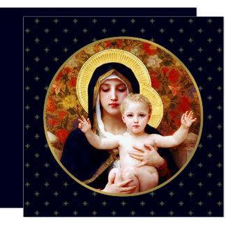 Madonna door W. Bouguereau. Godsdienstige Kaart