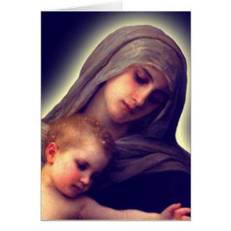 Madonna en het Kind danken u Kaarten
