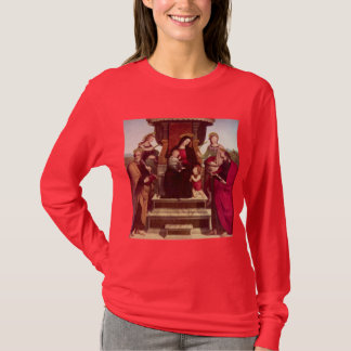 Madonna en het Kind kroonden met Heiligen door T Shirt