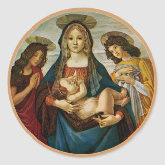 Madonna en het Kind van Botticelli Ronde Sticker