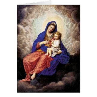 Madonna en Kind in Glorie Kaart