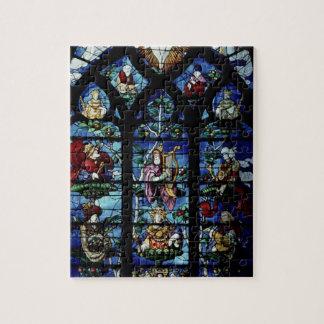 Madonna en Kind met engelen en portretten reflec Puzzel