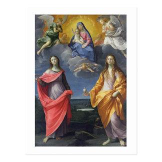 Madonna en Kind met St. Lucy en Mary Magdalene Briefkaart