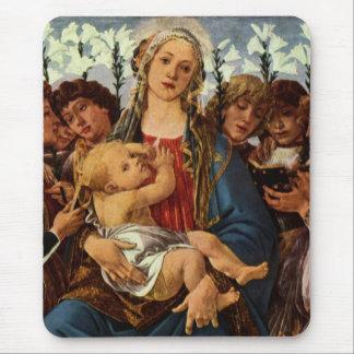 Madonna met acht engelen het zingen muismat
