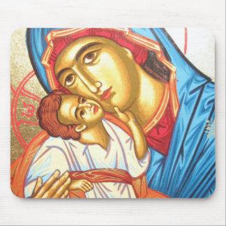 Madonna met het Religious Icon goud van Jesus Muismat