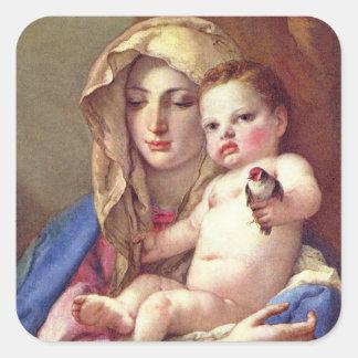 Madonna van de Distelvink Vierkante Sticker