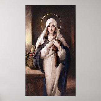 Madonna van de Heilige Druk van de Laag - Kamers Poster