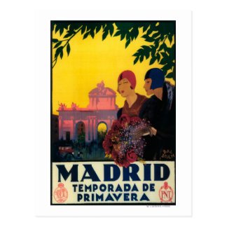 Madrid in het PromotiePoster van de Reis van de Briefkaart