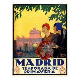 Madrid Temporada DE Primavera - het Vintage Poster Briefkaart