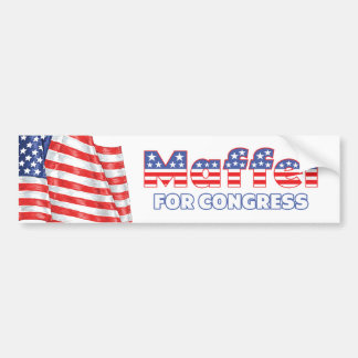 Maffei voor de Patriottische Amerikaanse Vlag van  Bumpersticker