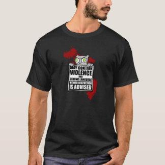 Mag Geweld bevatten: Schuimend overhemd T Shirt