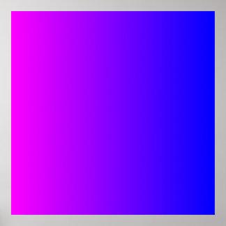 Magenta aan Blauwe Gradiënt Poster