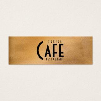 Magere Visitekaartje van het Restaurant van het Mini Visitekaartjes