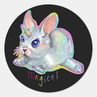 Magisch baby konijntje-graan ronde sticker
