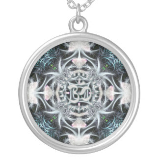 Magisch Fractal Aum Art. Zilver Vergulden Ketting