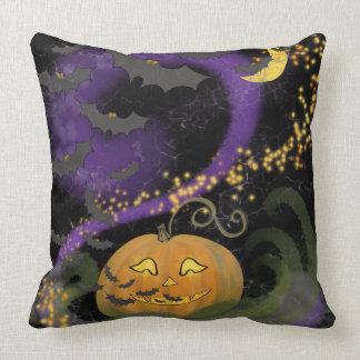 Magisch Halloween - Omkeerbaar! Pompoen & Knuppels Kussen