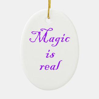 Magisch is het echt-ovale ornament