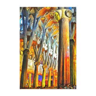 Magisch van Sagrada Familia Canvas Afdruk