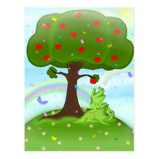 Magische appel briefkaart