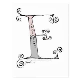 Magische Brief E van tony fernandesontwerp Briefkaart