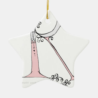 Magische Brief R van tony fernandesontwerp Keramisch Ster Ornament