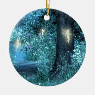 Magische de feevlucht Orniment van de nacht Rond Keramisch Ornament