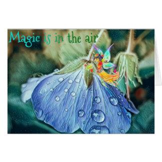 Magische de verjaardagskaart van de bloemfee kaart