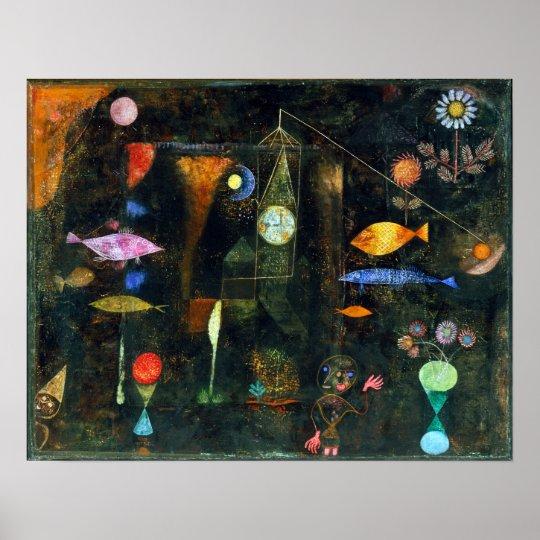 Magische de Vissen van Paul Klee Poster