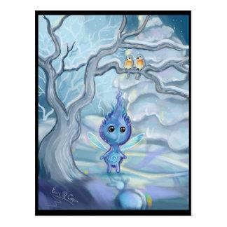 Magische de winter briefkaart