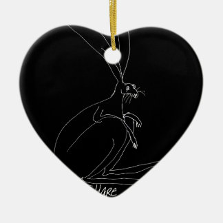 magische hazen keramisch hart ornament