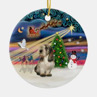 Magische Kerstmis - Petit Basset 4 Rond Keramisch Ornament