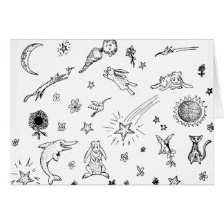 Magische Krabbels notecard Kaart