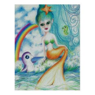 Magische mystieke meermin briefkaart