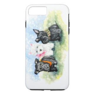 Magische Scottie en puppy Westie iPhone 8/7 Plus Hoesje
