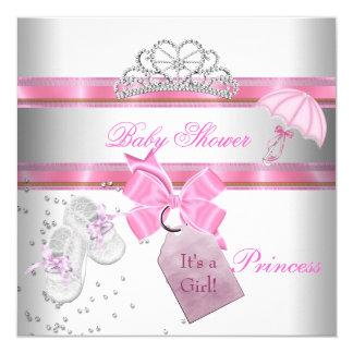 Magische Tiara van de Prinses van het Meisje van 13,3x13,3 Vierkante Uitnodiging Kaart