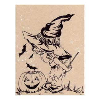 Magische trucs weinig briefkaart van