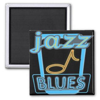 Magneet-jazz de Muziek van Blauw Magneet