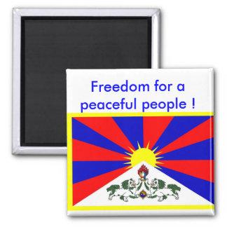 Magneet met de vlag van Tibet