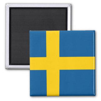 Magneet met Vlag van Zweden
