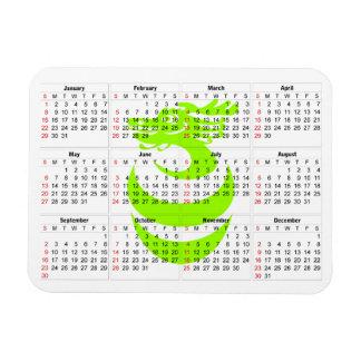 Magneet van de de draakPremie van de kalender de L