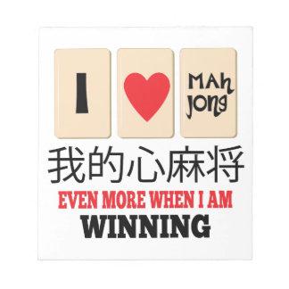 Mah Jong & het Winnen Notitieblok