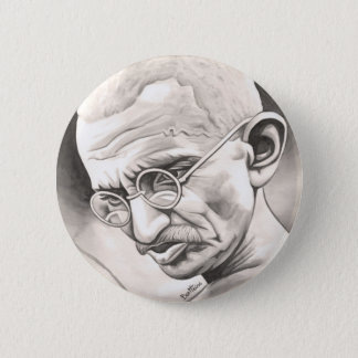 Mahatma Gandhi Ronde Button 5,7 Cm