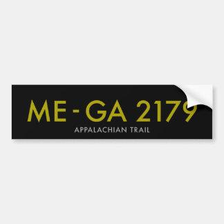 Maine aan Georgië 2179 Mijlen - Appalachian Sleep Bumpersticker