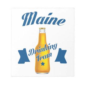 Maine die team drink notitieblok