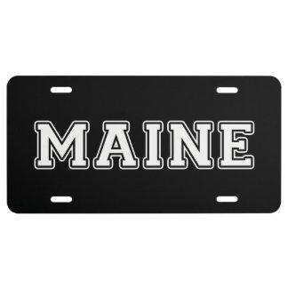 Maine Nummerbord