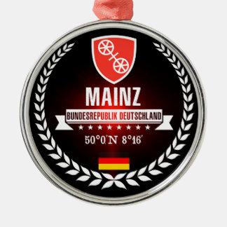Mainz Zilverkleurig Rond Ornament