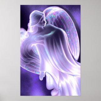 Majestueuze Blauwe Engel Poster