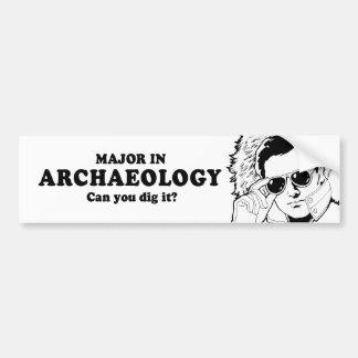 MAJOOR IN ARCHEOLOGIE - KUNT U de T-shirt van IT Bumpersticker